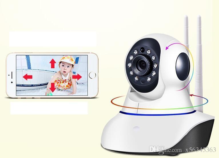 Double antenna Camera wireless IP camera WIFI Megapixel 720p HD indoor Wireless Digital Security CCTV IP Camera + 8G TF memory card MOQ;1PCS