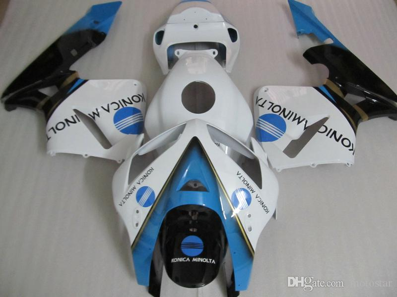 Honda CBR600RR 05 06 için enjeksiyon kalıplı plastik kaporta kiti beyaz mavi siyah kaportalar seti CBR600RR 2005 2006 OT11