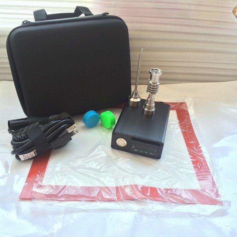Barato eléctrico dab E de uñas E dab Nails clavo electrónico para dabbing dabber rig PID caja digital Clavo de cuarzo plana 10 mm Titanio