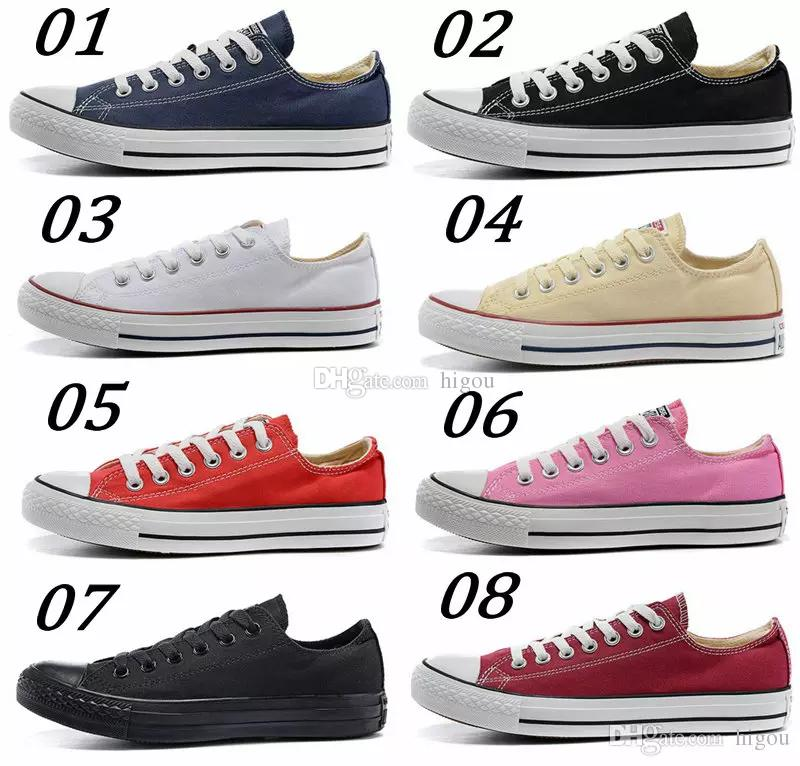2019 Converse Chuck Tay Lor All Star Core Casual Shoes Low Cut Classic Black White Red Canvas Shoes Women Mens Converses Skateboard Sneakers Office