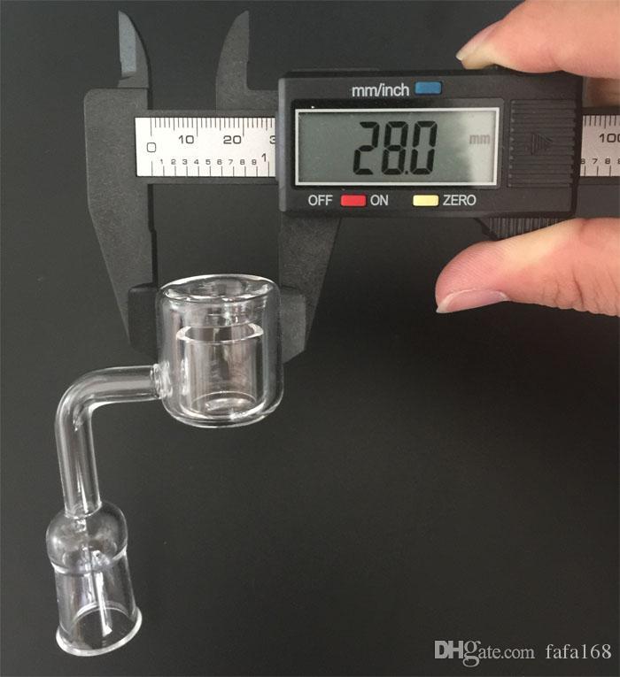 Doppelrohr Quarz Thermal Banger Nagel 10mm 14mm 18mm Männlich Weiblich XXL Quarz Banger Nagel Quarz Nagel Für Glas Bong Glas Öl Rigs