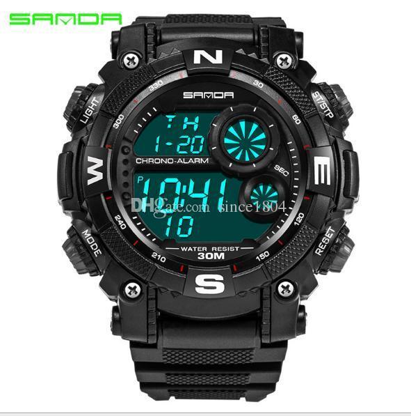 Бренд sanda открытый Мужские спортивные часы корейский персонализированные молодежный стол многофункциональный альпинизм часы