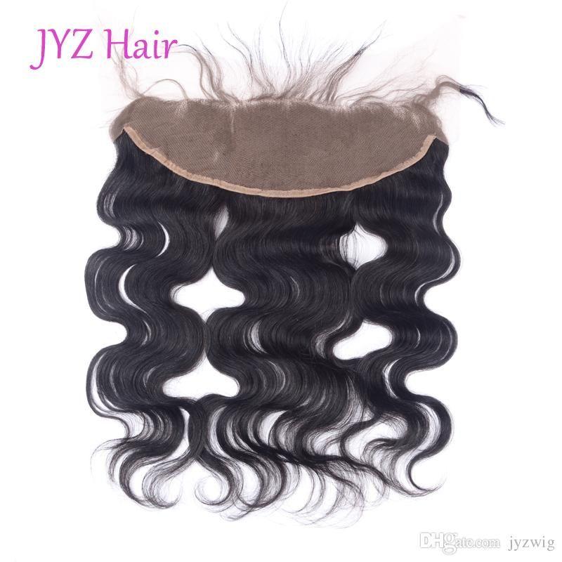 الماليزية البرازيلي بيرو الهندي الجسم موجة عذراء الشعر البشري الدانتيل أمامي 13x4 الدانتيل 100٪ غير المجهزة اللون الطبيعي شعر الإنسان إغلاق