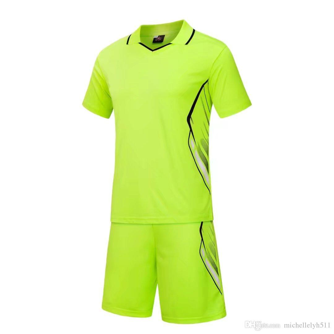 710 мужская пользовательские футбольные майки униформа зеленый взрослый личный футбольный комплект DIY имя футбол клуб тренировочные костюмы футбол Джерси шорты