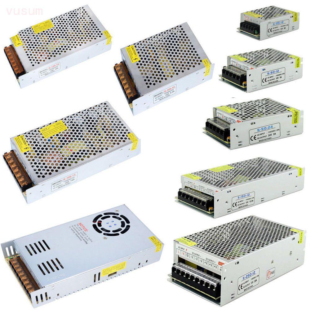12V LED Adaptateur de commutateur d'alimentation du transformateur 110V-220V À DC 12V 2A 3A 5A 10A 20A 30A 40A Driver pour les lumières de bande menées