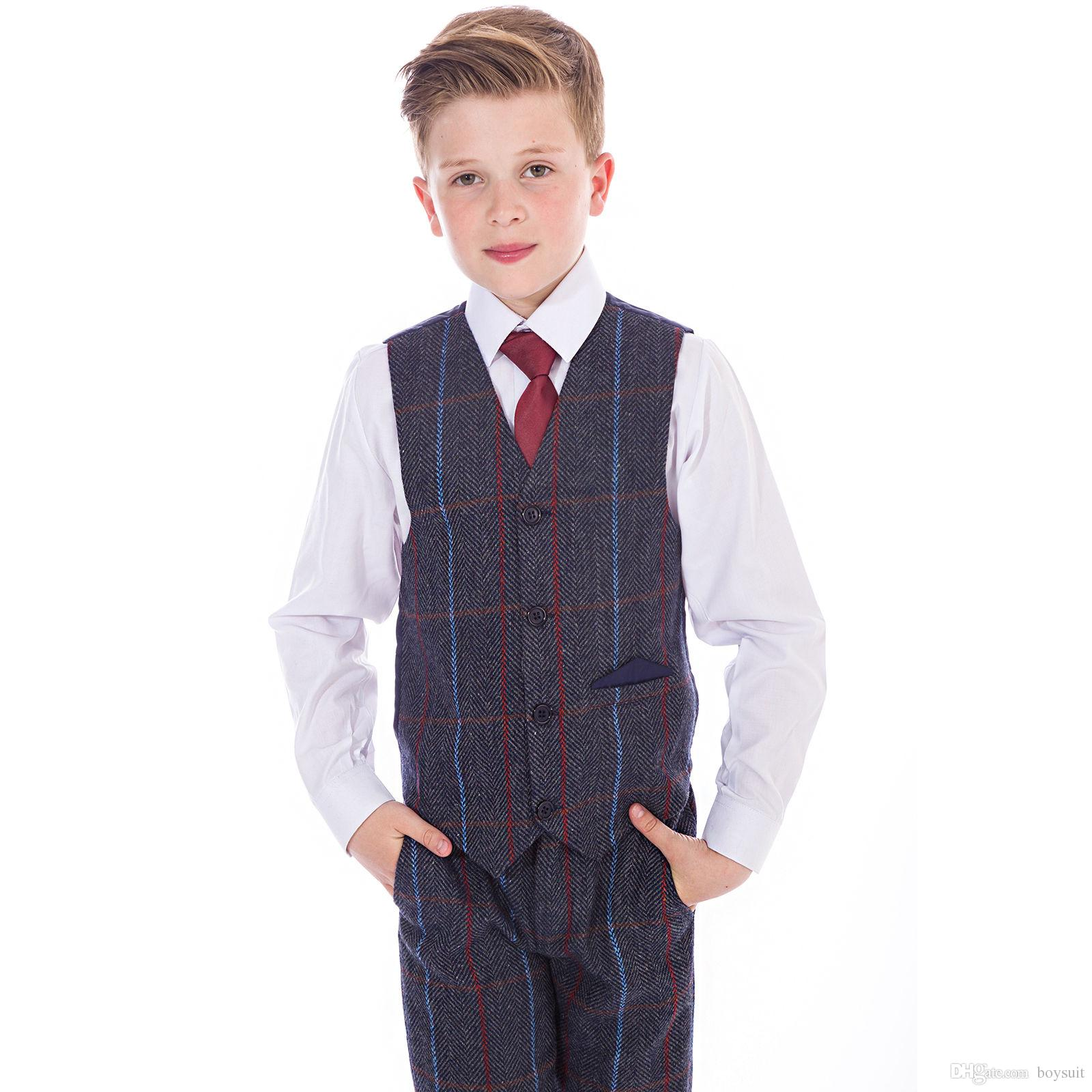 Boys Suits Boys Wedding Suit Tweed Waistcoat Suit Page Boy Baby ...