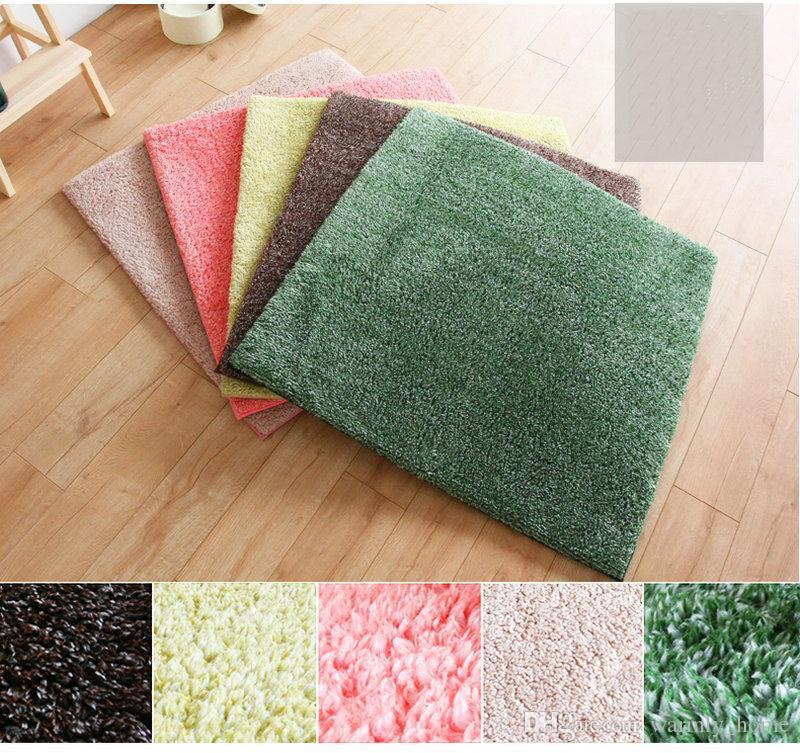 4 Teile / paket Benutzerdefinierte Fußmatte Fußmatte Footcloth Teppichfliese Teppiche Wohnzimmer Rabatt Bodenbelag Pad Matting Abdeckung Für Verkauf