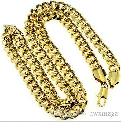 N331 Классическая цепочка ожерелья для мужчин Модное желтое позолоченное ожерелье Ювелирные изделия