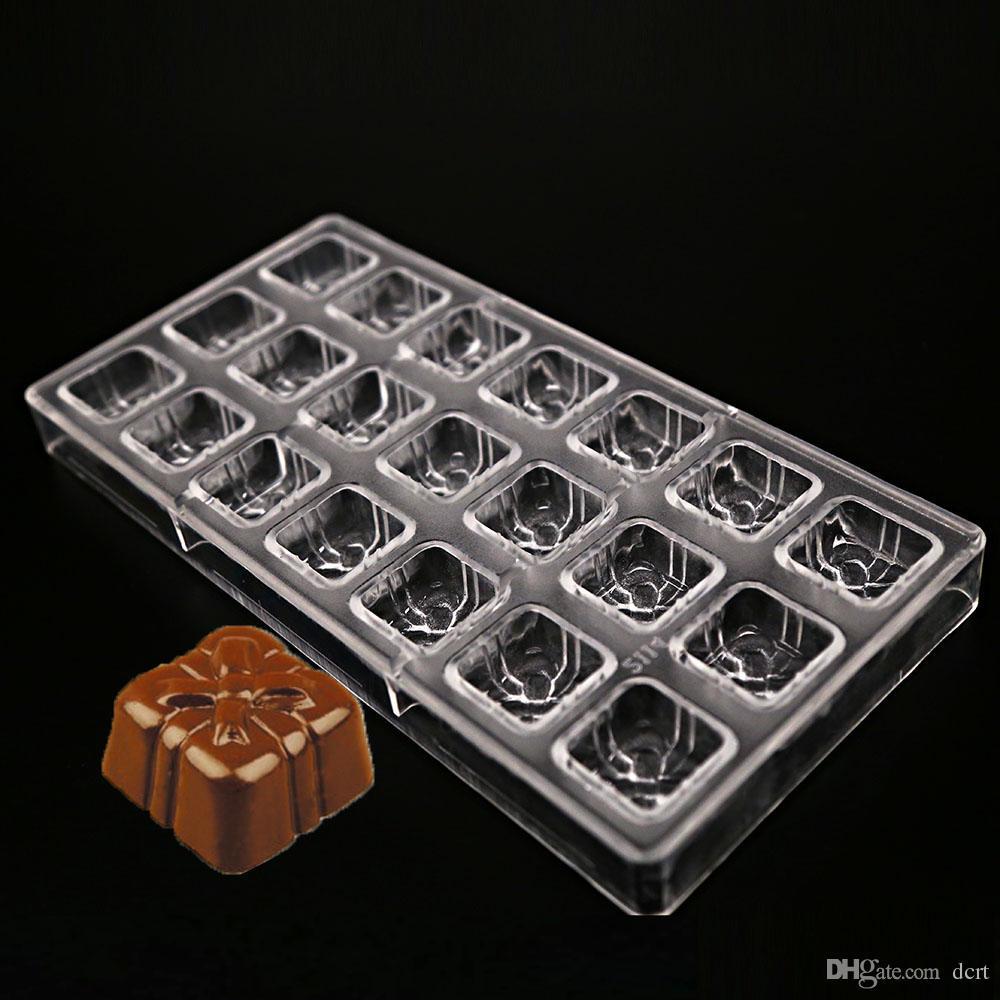 Valentine's Day coffrets forme des moules en plastique chocolat, cadeau d'anniversaire en chocolat personnalisé polycarbonate moule à bonbons moule outil