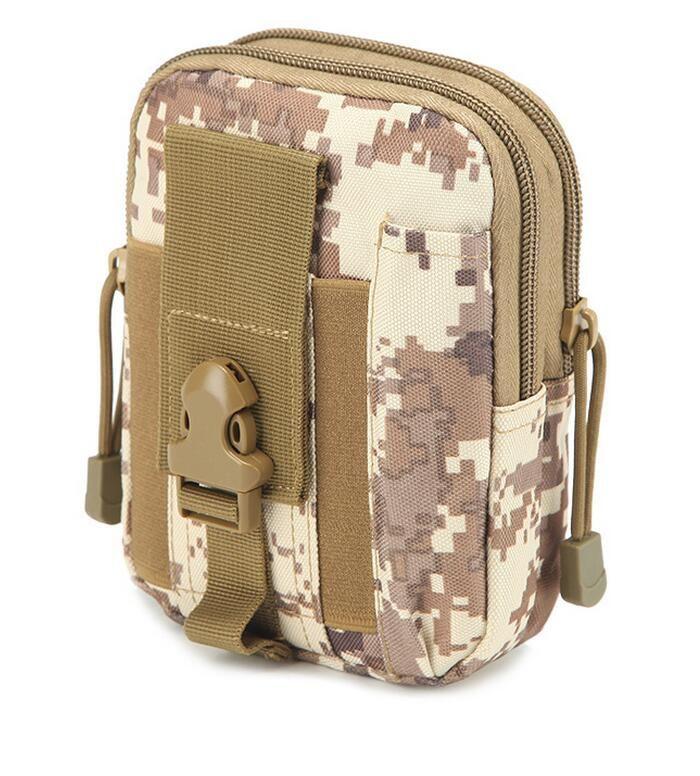 Tattico Molle militare Hip tasca del raccoglitore esterna degli uomini di sport casuali della cinghia di vita della cassa del telefono Holster Army Camo Bag Camouflage