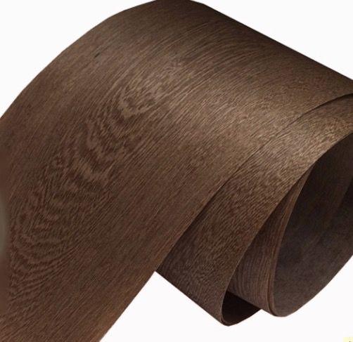 Atacado- Comprimento: 2.5 metros Largura: 18cm folheado de madeira natural de folheado de cinza de café natural