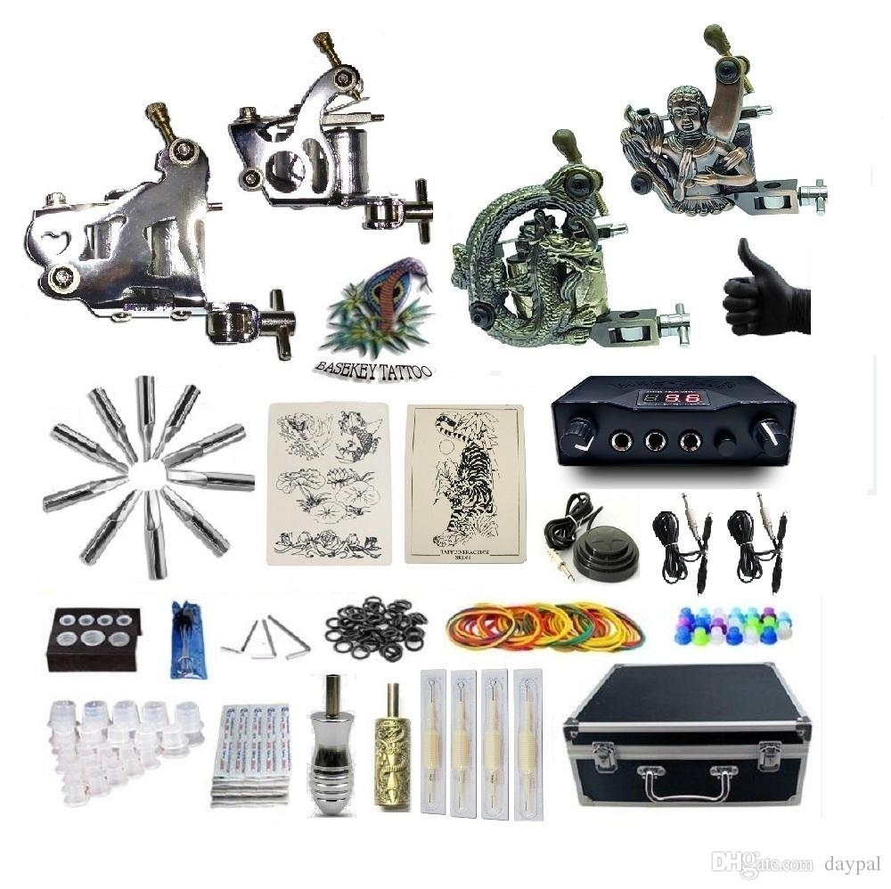 Basekey Complete Tattoo G4A5A15Z12Z10 4 Machines Power Supply Needles