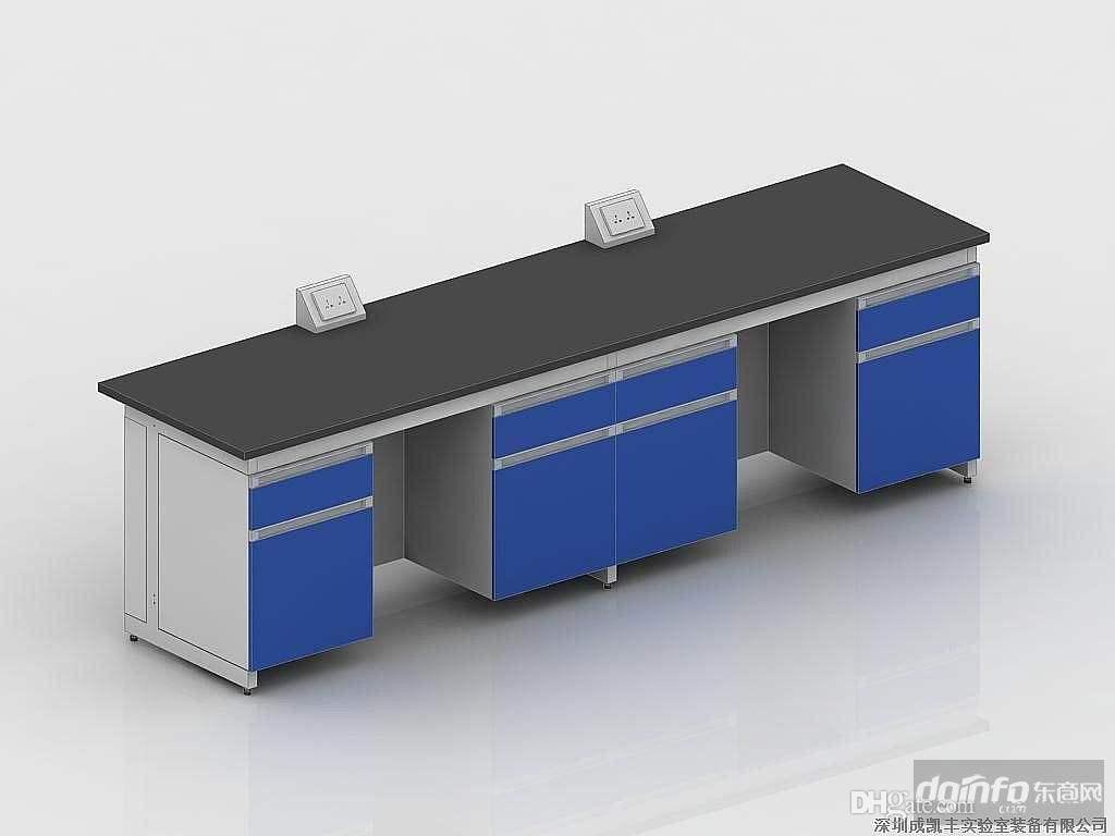 3000 mm lange Laborarbeitsbank aus Stahl Holz Wandbank Laborseitenbank