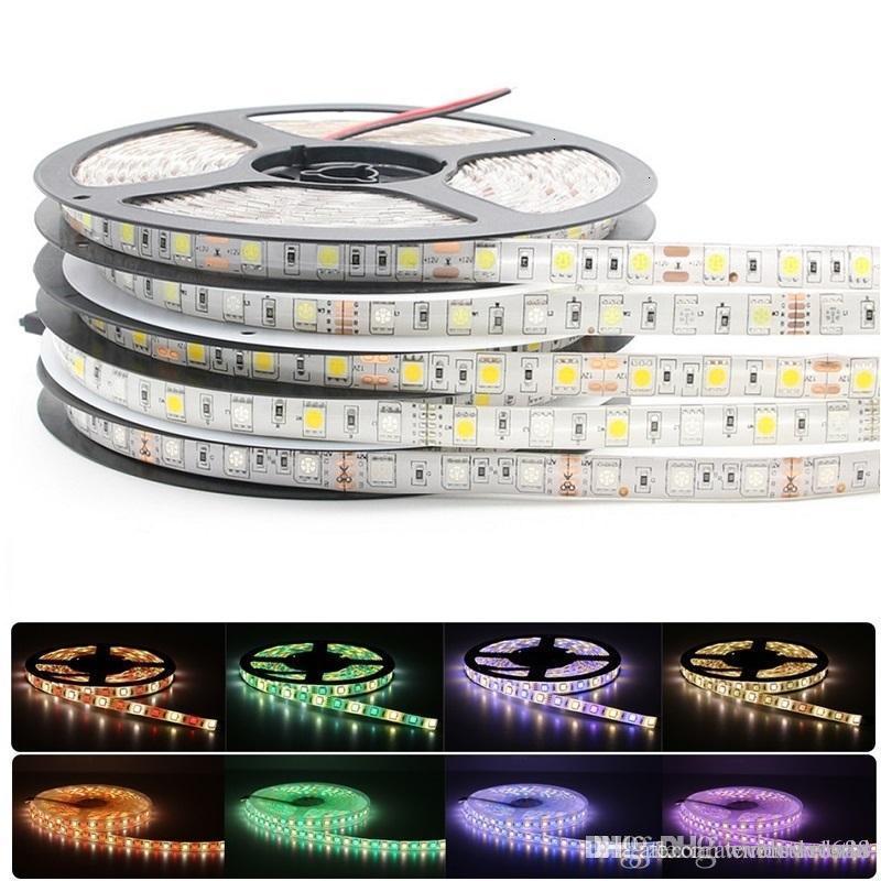 5050 RGB LED-Streifen wasserdicht 5M 300LED DC 12V RGBW RGBWW LED-Lichtstreifen flexibles Neonband Innen- Außenbeleuchtung