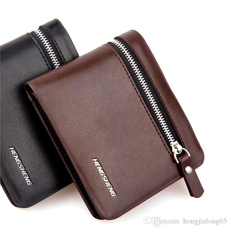 Brand New Mens Ladies Black Leather Credit Card Note Holder Wallet Purse