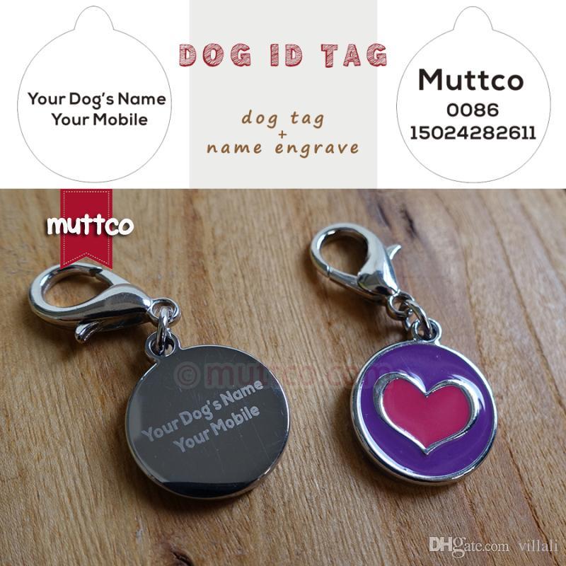 Лазерная гравировка 20 мм симпатичные форма сердца печати 2colour собака тег собака id теги для домашних животных металла лазерная гравировка круглая собака имя теги