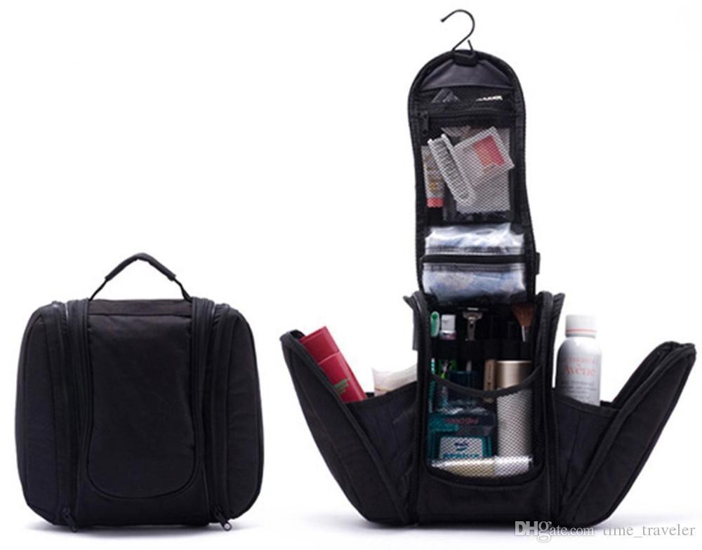 Free shipping 2015 Black New Orgarnizer Shaving men's travel bags Deluxe Large Hanging Hook Travel Toiletry Kit bag