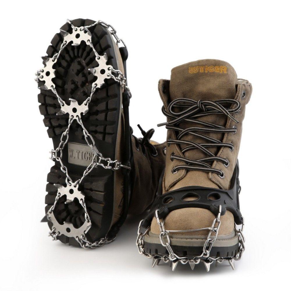 TPR 하이킹 견인 클리트 / 스테이플 들어 눈과 얼음 (18) 치아 스테인레스 스틸 신발 클리트 스테이플 도매 체인