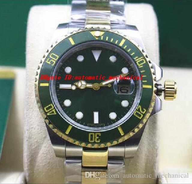 MONTRE Montre en acier inoxydable Céramique Vert 116610LV Acier Inoxydable Bracelet Mécanique Hommes Montres Top Qualité Montre de Luxe