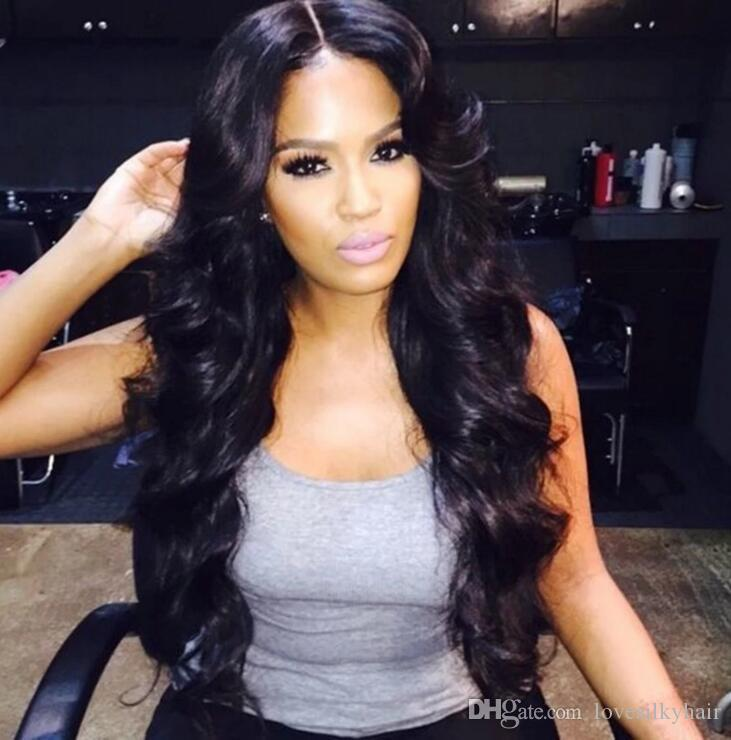 Pelucas de onda suelta caliente de simulación del pelo humano de calidad superior para mujeres negras en stock envío gratis