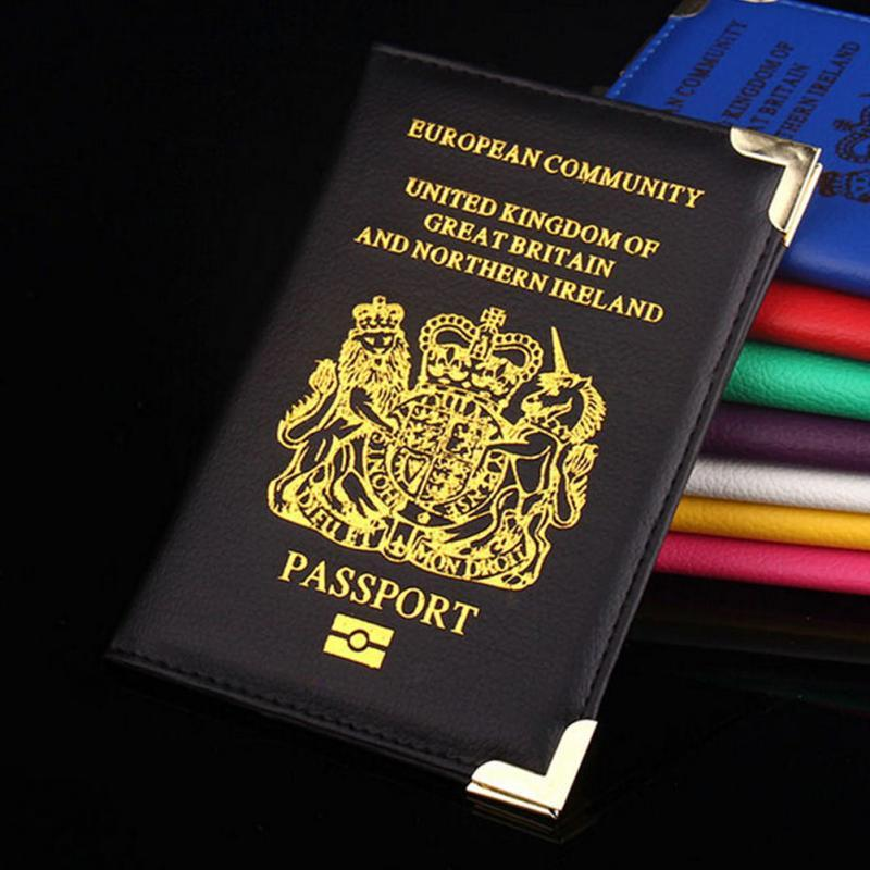 Various Color UK /& European PU Leather Passport Holder Protector Cover Wallet UK