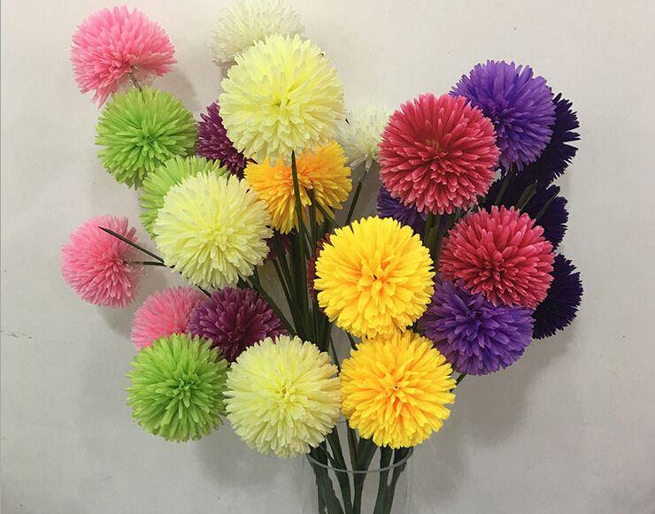 Crisantemo Artificial Margarita Flores Hogar Boda Centro de Mesa Decoración Fiesta Flores Artificiales