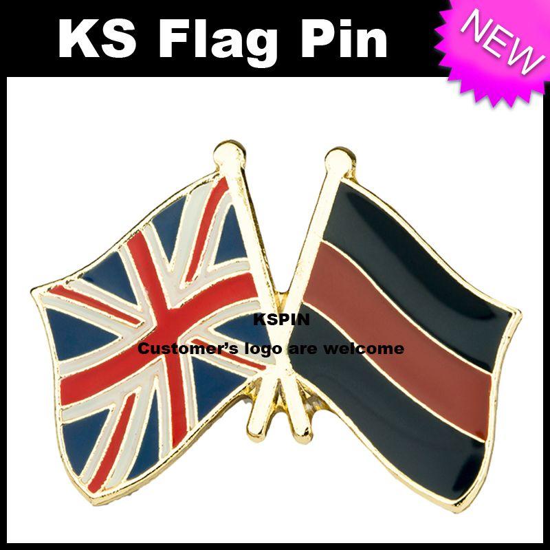 Il perno BRITANNICO 10pcs della bandiera del distintivo della bandierina di amicizia del Jack del Regno Unito molto libera il trasporto 0010
