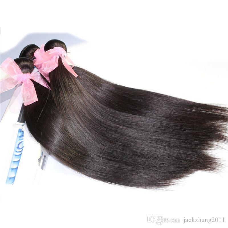 ブラジルの髪の織り毛織りのカラーのマレーシアのインドのペルーの髪の束ストレート8-30インチ未処理の人間の髪の毛拡張