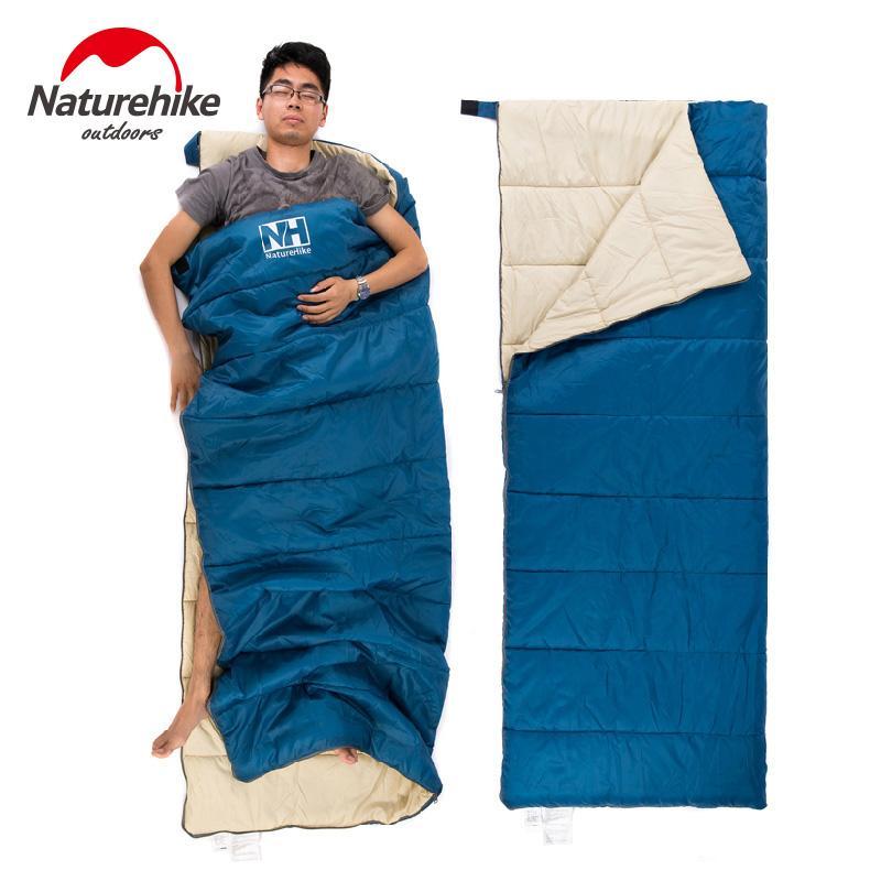 الجملة- naturehike 3 ألوان خفيفة كيس النوم المحمولة التخييم التنزه تسلق الدفء 1900x750 ملليمتر طبقة مزدوجة كسول حقيبة 800 جرام