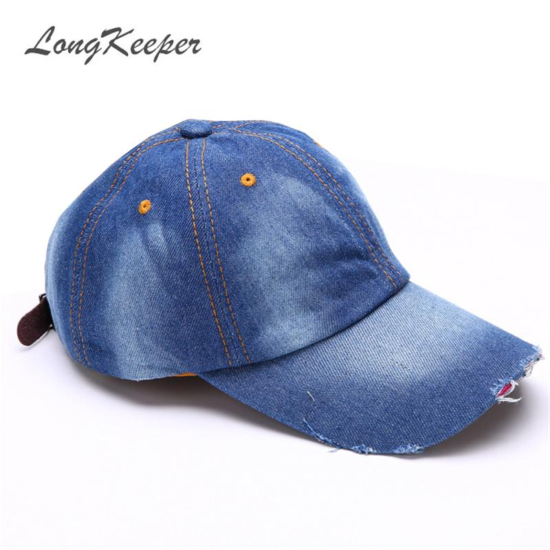 بالجملة، إمرأة رجل الدينيم قبعات رعاة البقر نمط المتعثرة ارتداء قبعات البيسبول كاب بنين بنات سنببك خريف شتاء قبعات Gorras MYW80