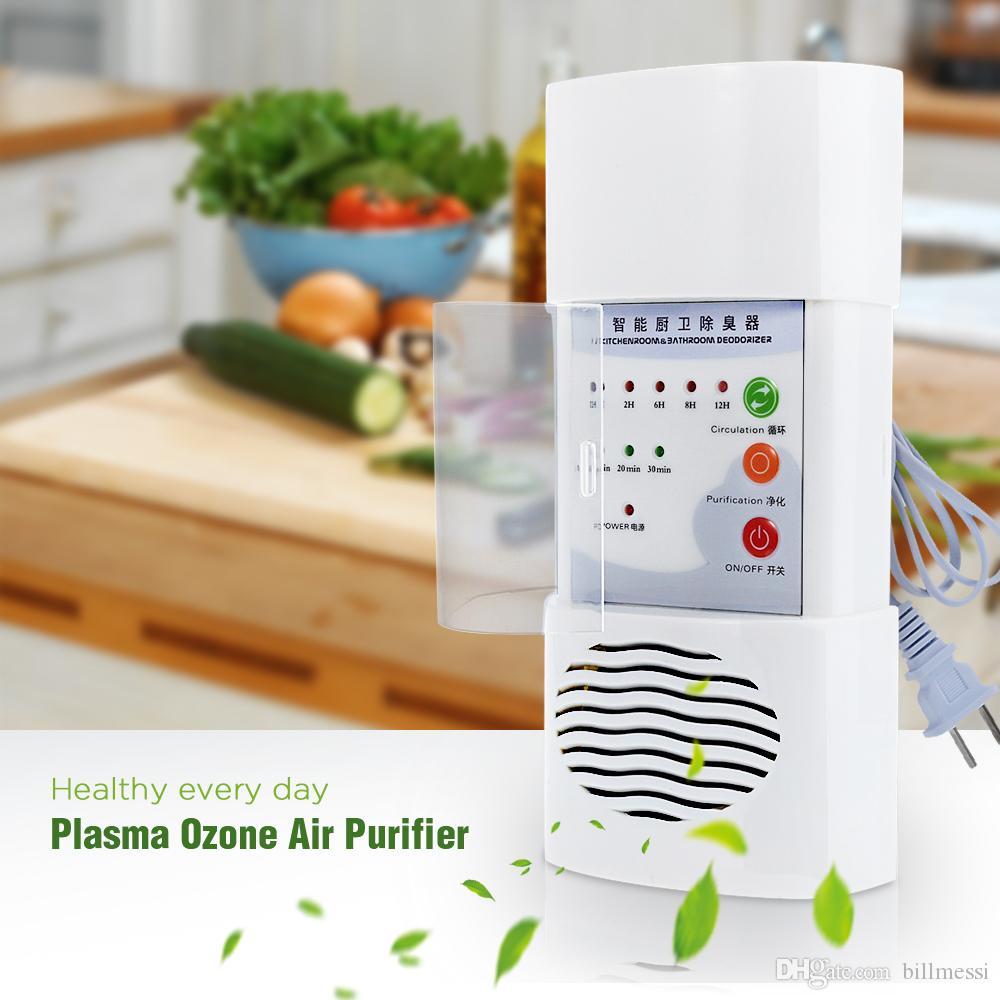 Плазменный Озон очиститель воздуха для дома и офиса Бактерицидные Electric Концентратор кислорода Фильтр очистки Дезодорант Белый китайский разъем + B