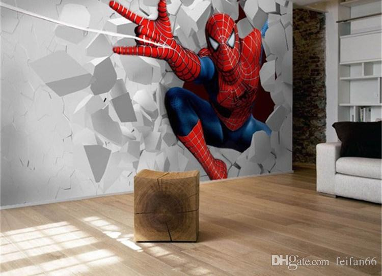 3d Photo Wallpaper Spider Man Cartoon Living Room Tv Wall Wallpaper 3d Backdrop Wallpaper Wall Mural Wall Paper Wallpapers Widescreen Wallpapers