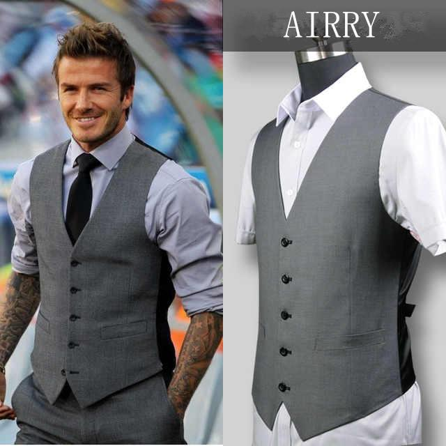 15 Vent Made Bridegroom Custom Light Airry31 Grey Side Man Best Style 2019 Beckham Business From Vest Fit Wedding Weddingmen's Slim Star jVGpLqSUzM