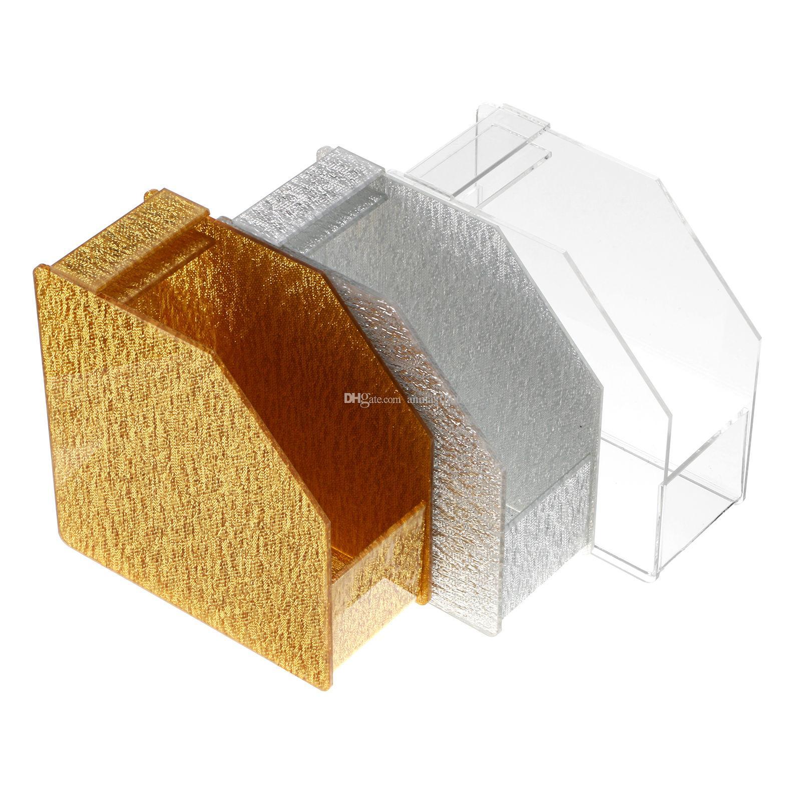 Серебро / Trasparent / золото мода акриловые ногтей Форма диспенсер держатель одной формы легко выбрать