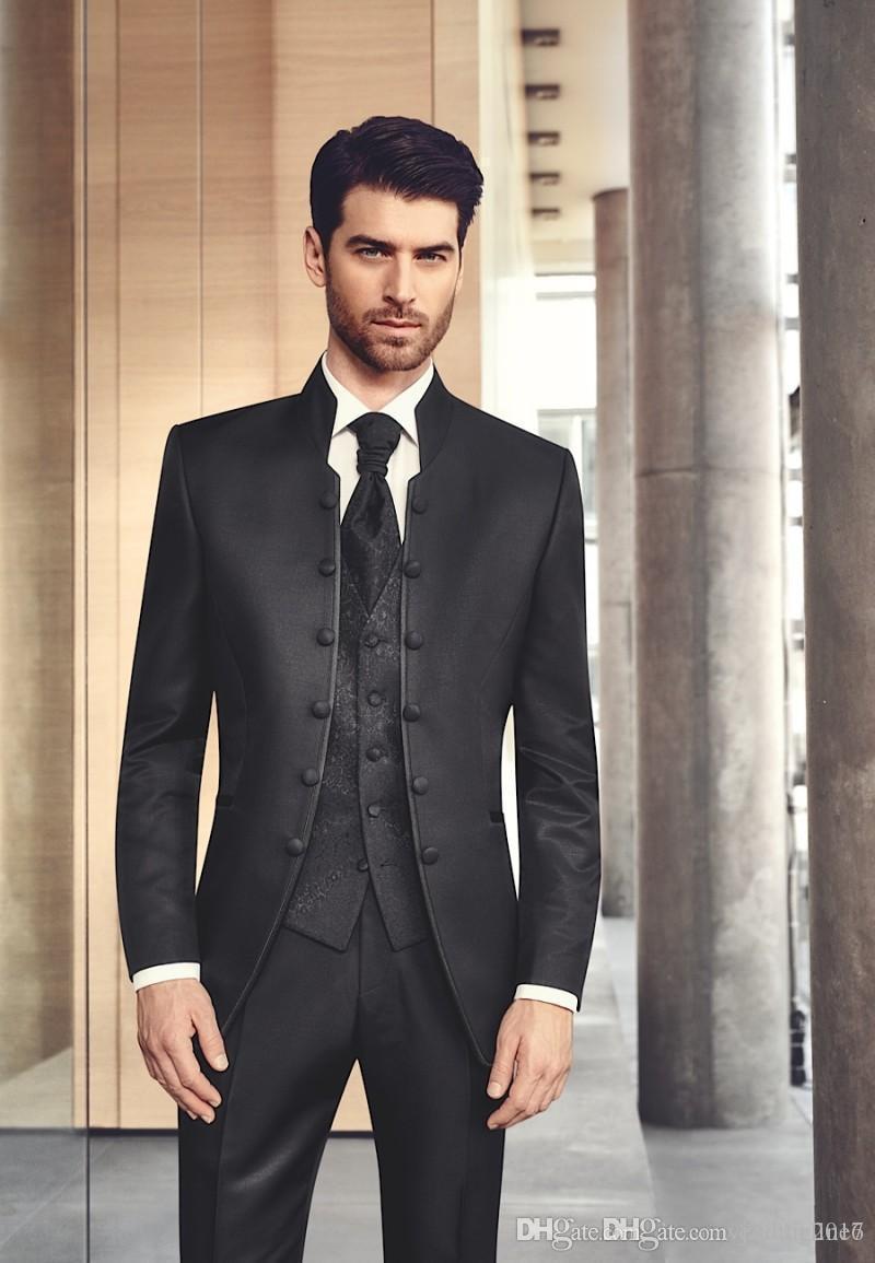 Black Wedding Suits For Mens New Tuxedo The Best Groom Men Silm ...