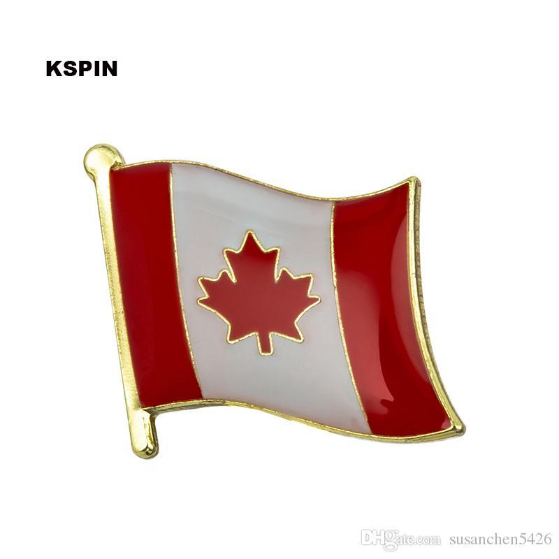 Envoi gratuit de l'épinglette KS-0083 du drapeau canadien en métal