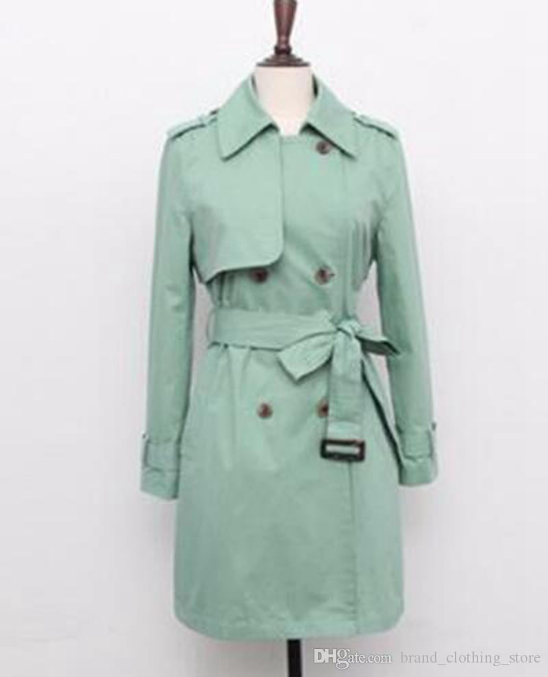 여자들이 한 판의 기질을 꺾어 긴 트렌치 코트 / S-2XL에서의 도덕성 쇼 얇은 레저 패션 디자인을 육성