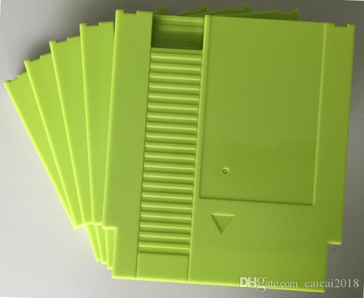 Green color 72 Pins Game Cartridge Replacement Plastic Shell For NES Console