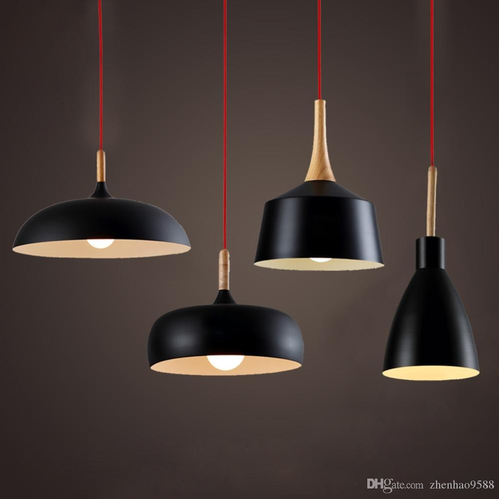 Luminaire Pendant Style Wood Aluminium Light Light Hanging Island Pendant Lamp Suspension Modern Rustic Fixtures Vintage Nordic Lampshade Lamp Light 4jS3ARqLc5