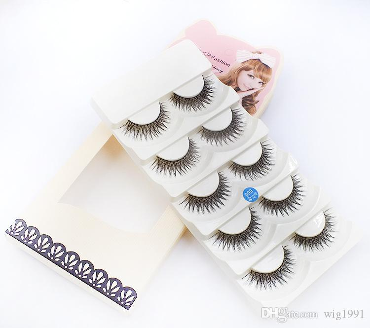 Messy Long Makeup Cross Thick False Eyelashes 8 Styles with Box Package 5 Pairs Beauty Tools Nautral 3D Handmade Lashes Retail Box Hot