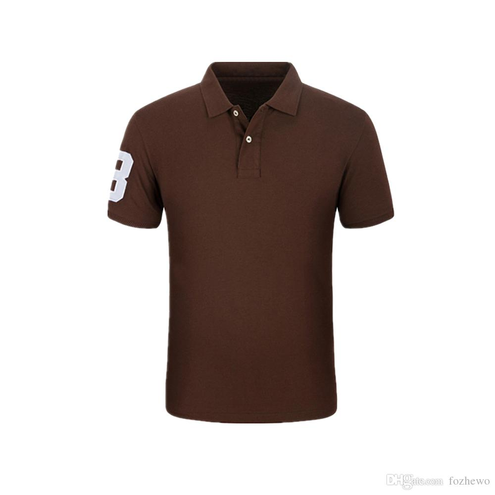 New Fashion Top Quality Men's Classic Fit Solid Short Sleeve Poly Pique Polo Shirt for Men