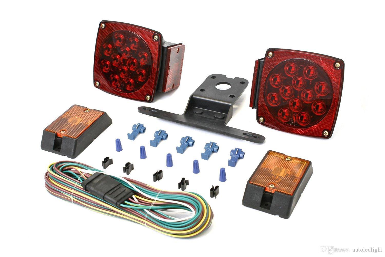 12 볼트 LED 잠수정 범용 마운트 조합 트레일러 테일 라이트 키트 주도 트럭 테일 라이트 키트 세트