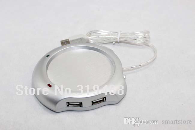 10pcs/lot RA New 4 Port USB Hub Tea Coffee Beverage Electric Cup Mug Warmer Heater Pad for PC Laptop Free Shipping 0001