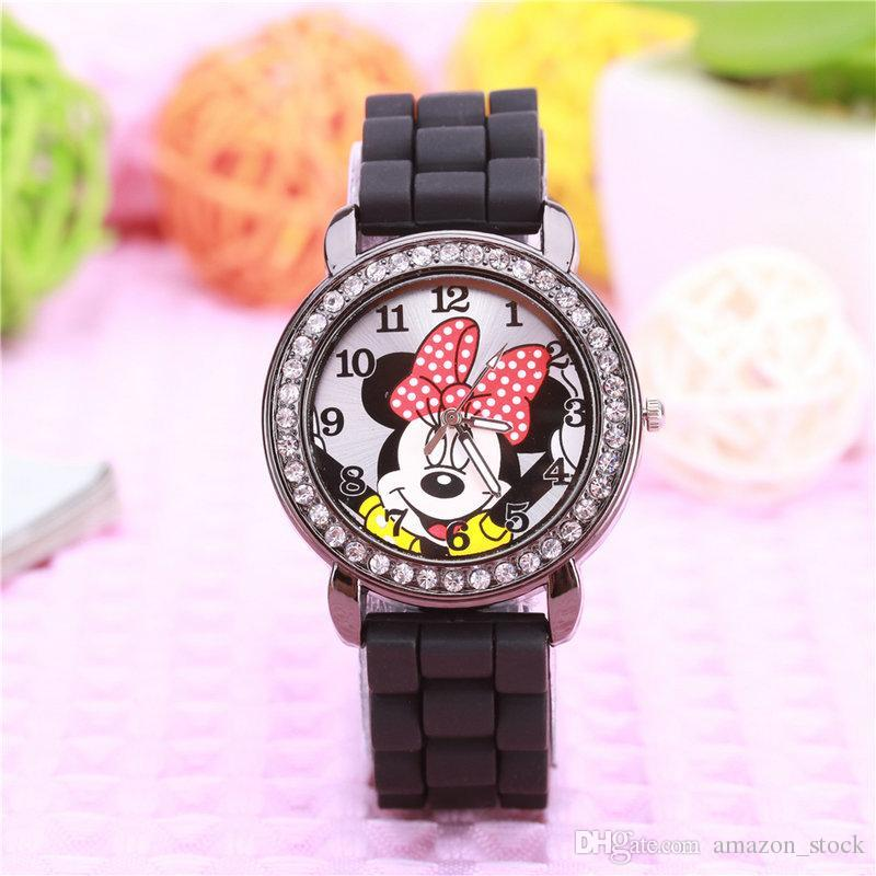 2017 Cartoon Mickey Minnie Mouse Children Watch Fashion Silicone ...