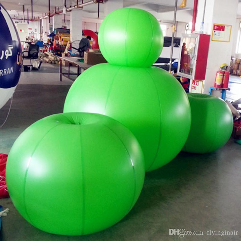 Ballon gonflable d'Apple de sphère de PVC vert de 0.5m-2m avec l'impression