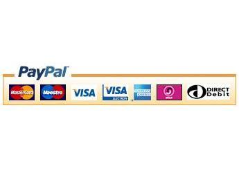 Credit or debit card through PayPal