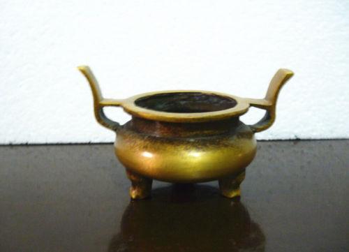Bouddhisme chinois marqués bronze laiton pur brûleur d'encensoir