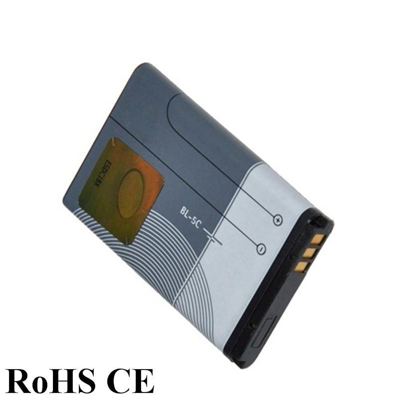 2 adet En Düşük Fiyat BL-5C BL 5C BL5C Li iyon Polimer Cep Telefonu Piller için Nokia 1000 1010 1100 1108 1110 1111 1112 1116 Stokta