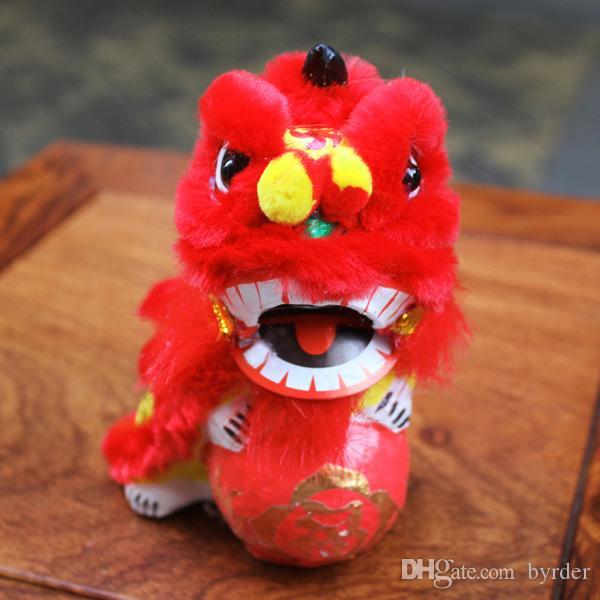 Chine danse traditionnelle FoShan lion artisanat populaire hortensia lion décorations de voiture bar à café maison artisanat 008