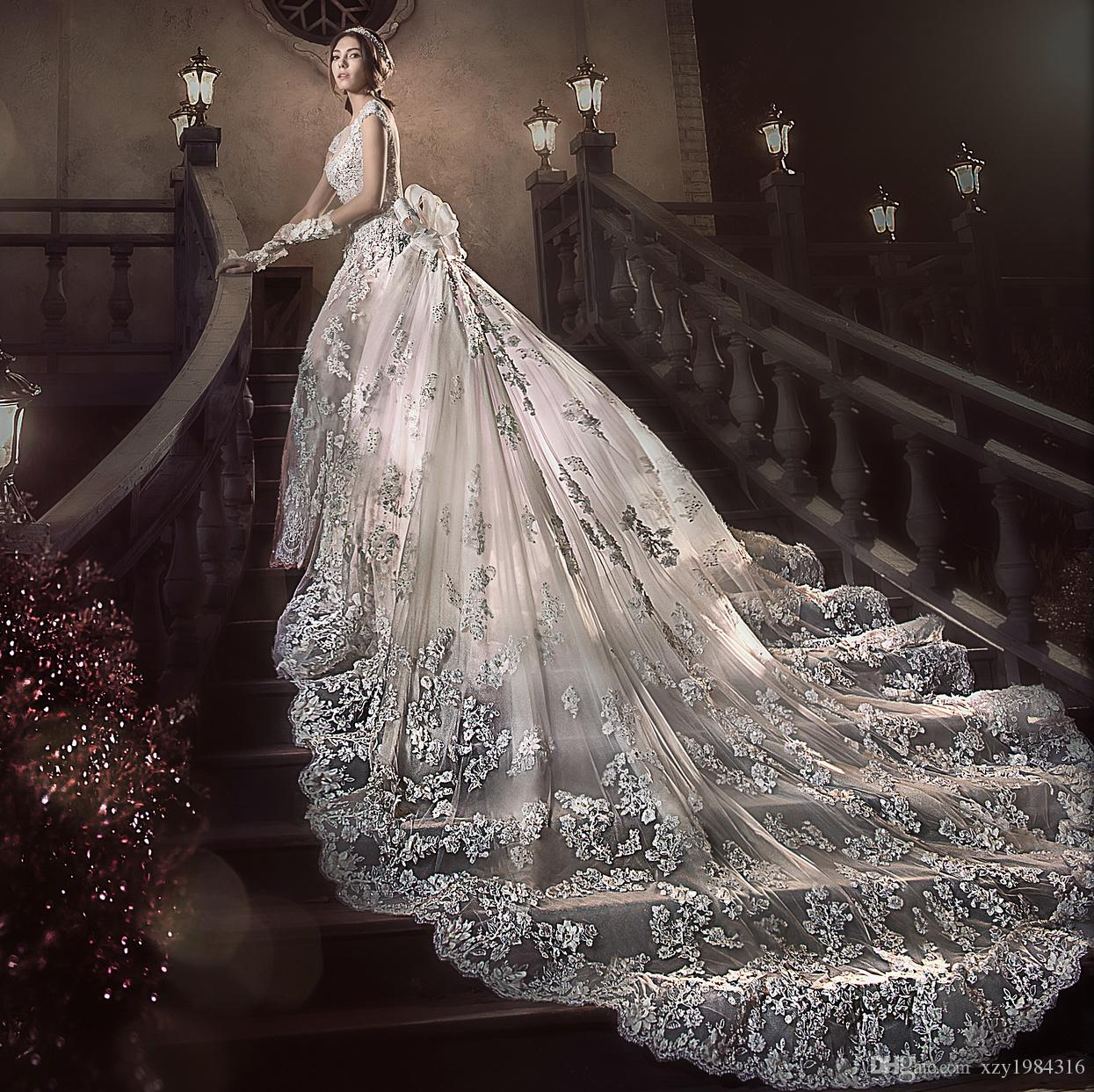deb470835 2.5 Metros de Cauda Longa Vestido De Noiva Lindo Moda Destacável Trem  Vestido De Casamento De Praia de Luxo Cristal Frisado Applique Sereia  Vestido De ...